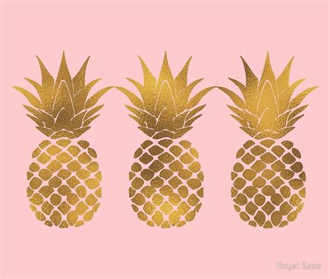 quot pink and gold pineapple quot framed prints by royal sass redbubble