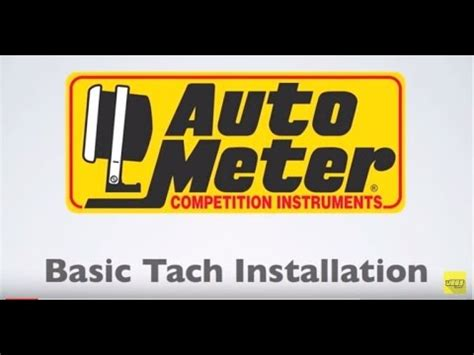 Autometer Basic Tach Installation Wiring Instructions