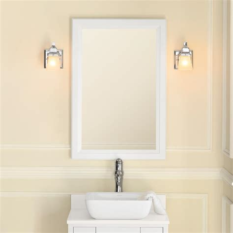 Wood Bathroom Mirrors by 24 Quot Reuben Transitional Solid Wood Framed Bathroom Mirror