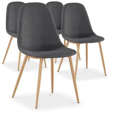 chaises tissus chaise scandinave tissu gris glas lot de 4 lestendances fr