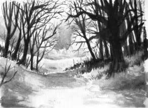 Forest Drawings Black and White