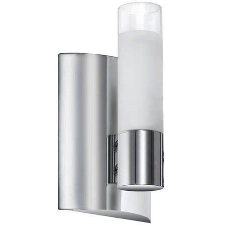 dainolite 1 light tube wall sconce w switch polished