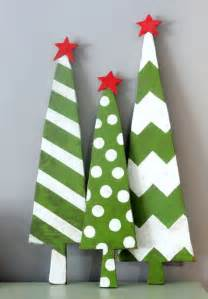 Wooden Christmas Tree Craft Ideas