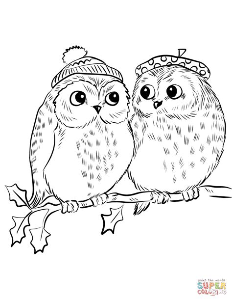 Pictures Of Owls To Color by Of Owls Coloring Page Free Printable