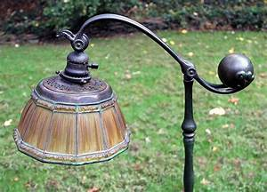 chasenantiquescom lamps tiffany studios linenfold With tiffany linenfold floor lamp