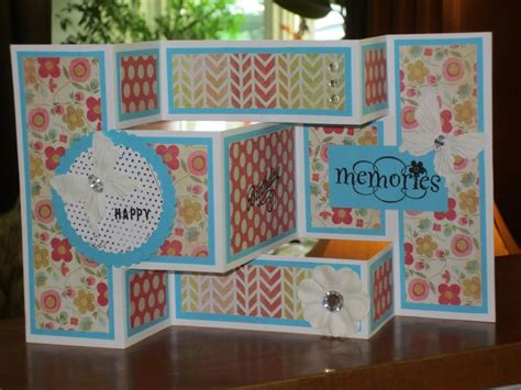Trifold Template Album Ideas tri fold birthday card scrapbook cardmaking and