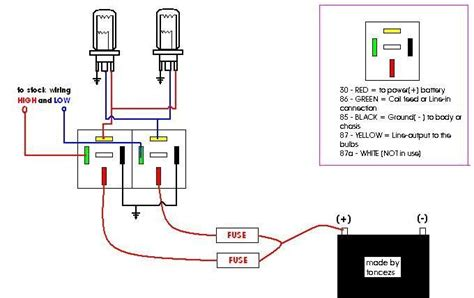 Automobile Wiring Diagram Light Switch by How To Make A Headlight Wiring Relay Kit 3 Steps