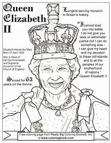 Queen Elizabeth Coloring Pages Drawing Ii Birthday Print Colouring Sheets Drawings British King Coloringbook Cartoon George Getdrawings Through Results sketch template