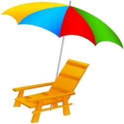 Beach Chair and Umbrella Clip Art