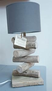 Lampe Chevet Bois Flotté : lampe de chevet d co nature cr ations en bois flott ~ Teatrodelosmanantiales.com Idées de Décoration