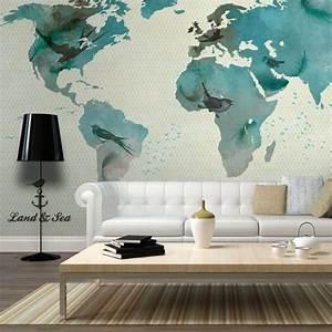 Tapisserie Carte Du Monde : affiche g ante poster xxl carte du monde 100x70 cm 2 l s achat vente papier peint ~ Teatrodelosmanantiales.com Idées de Décoration