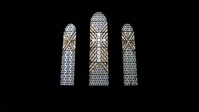 Stained Glass Window Church Space Negative Architecture