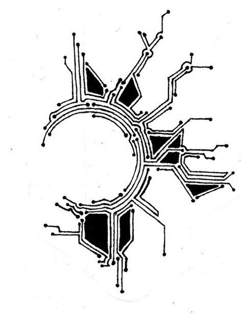 Circuit, tattoo template, 3-12. | Cyberpunk tattoo, Tattoo