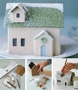 Maison De Noel Miniature : fabrication maison en carton kids activit s r cr atives noel maison en carton et diy no l ~ Nature-et-papiers.com Idées de Décoration