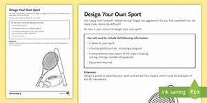 PE Cover Lesson - Design Your Own Sport Worksheet / Activity
