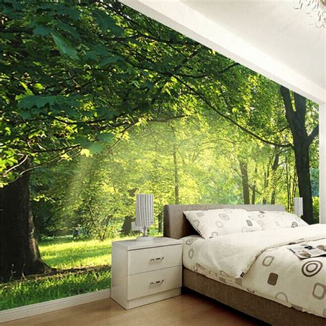 aangepaste foto wallpaper  natuurlijke landschap