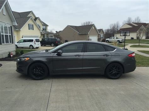 Black Ford Fusion by Ford Fusion Black Rims 2 Cool Cars Ford Fusion