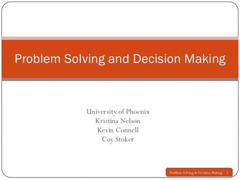 Decision Making And Problem Solving Quotes