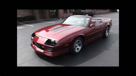 chevrolet camaro iroc  convertible youtube