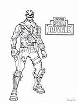 Fortnite Coloring Battle Royale Ice King Drift Raven Kolorowanki Skins Printable Bomber Brite Season Characters Night Cool Carbide Bronie Rotation sketch template