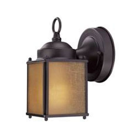 small bronze outdoor wall light with compact fluorescent