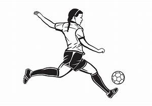 Girl Playing Soccer Wall Decal - Great Sports Vinyl Sticker