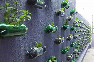 Diy, Creation, Of, A, Modern, Garden, With, Upcycling, Plastic