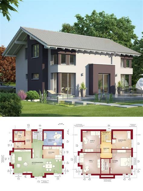 Häuser Modern Mit Satteldach by Modernes Satteldach Haus Mit Erker Einfamilienhaus Bauen