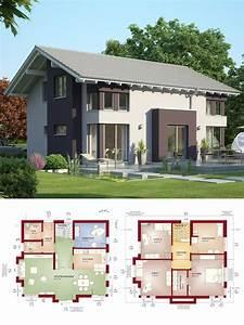Haus Grundriss Ideen Einfamilienhaus : modernes satteldach haus mit erker einfamilienhaus bauen ~ Lizthompson.info Haus und Dekorationen