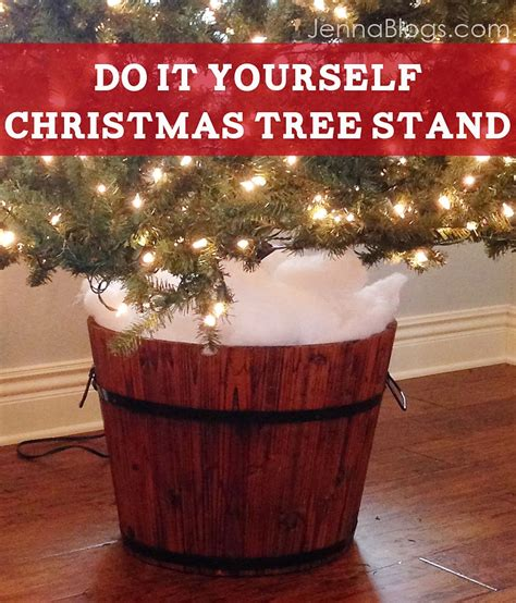 jenna blogs diy christmas tree barrel stand
