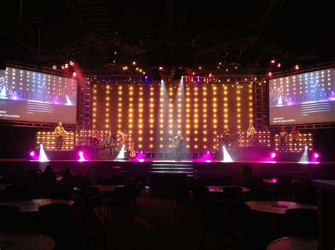 bulb boxes church stage design ideas
