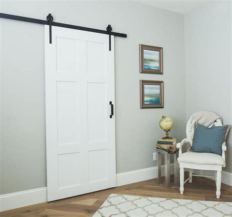 our classic 6 panel sliding barn door is timeless built