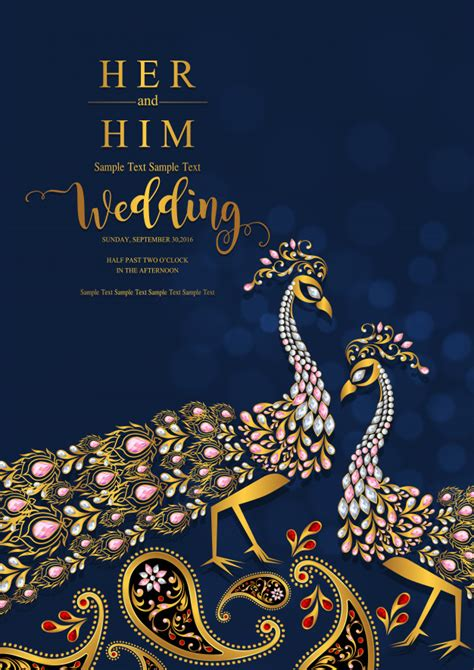 Indian wedding invitation card templates Vector Premium