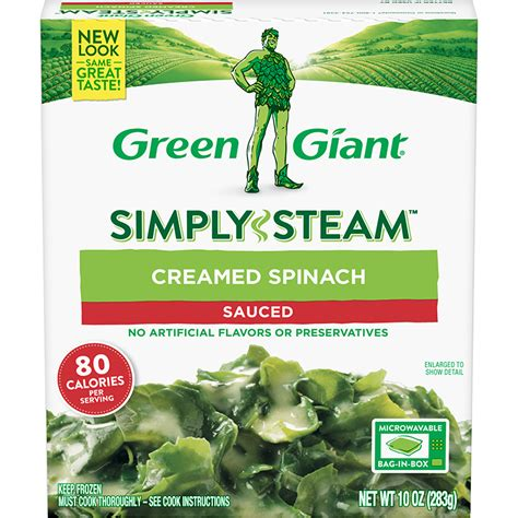 green giant simply steam creamed spinach