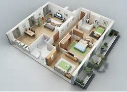 Apartment Designs Shown With Rendered 3D Floor Plans Posisi Posisi Terbaik Masing Masing Kamar Pada Denah Rumah Wienaomi The Greatest Site In All The Land Denah Rumah Minimalis Murah Home Design
