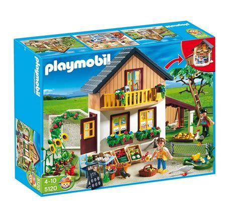 jouets carrefour playmobil 5120 maison des fermiers et march 233 ventes pas cher