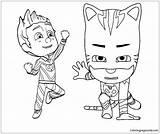 Coloring Boy Catboy Popular sketch template