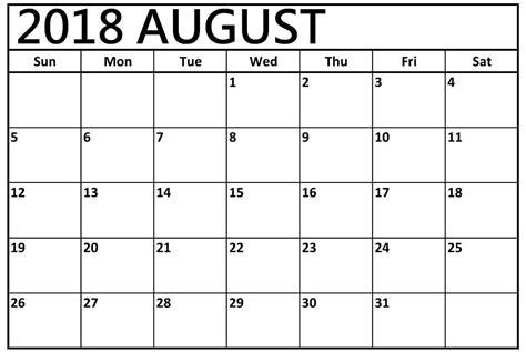 blank calendar template august calendar 2018 blank printable calendar holidays 2018 national holidays