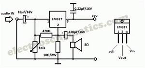 lm317 audio amplifier circuit circuit diagram world With an adjustable voltage regulator lm317 to design the charging circuit