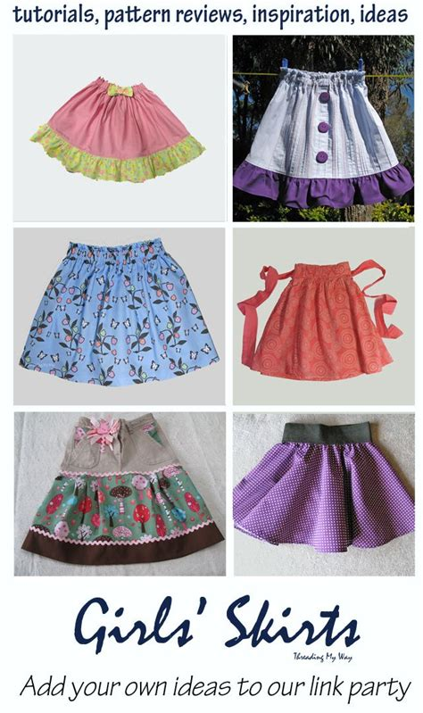 Diy Clothing Kids & Tutorials Skirts For Girls Link Party