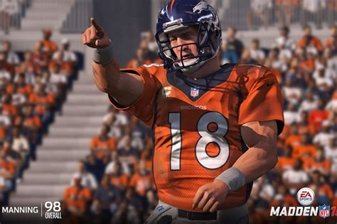 broncos peyton manning  top rated qb  madden nfl  video game mile high report