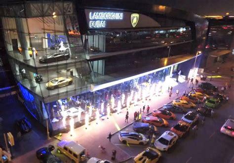 lamborghini opens  worlds biggest showroom  dubai