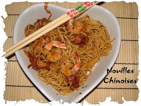 cuisiner les nouilles chinoises nouilles chinoises aux crevettes et au miel de