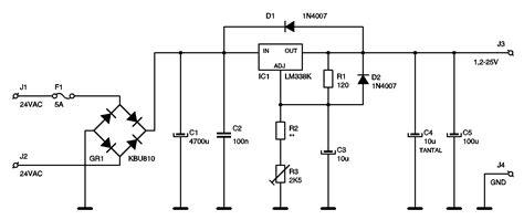 Lmk Amp Regulated Power Supply Circuit Electronics