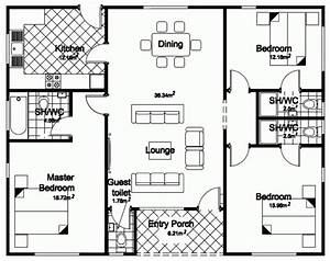 4 bedroom bungalow house designs 3 bedroom bungalow house With three bedroom house blue print