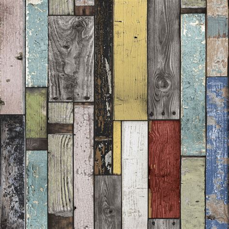 painted wooden planks wallpaper departments diy  bq