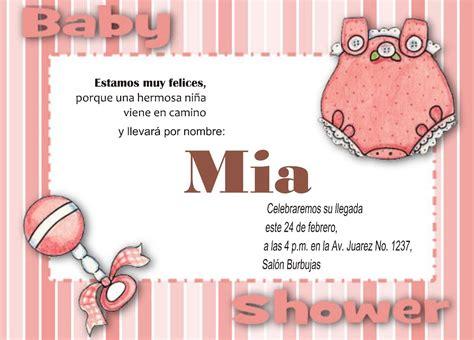 Invitación Imprimible Y Personalizada Baby Shower Niña