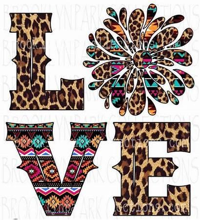 Leopard Sublimation Aztec Splash Clip Cheetah Valentine