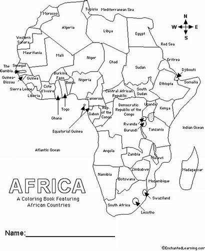 Coloring Countries African Enchantedlearning Learning Books Estimate
