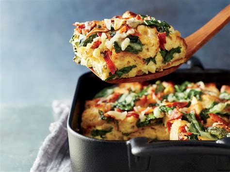 spinach bacon and gruy 232 re breakfast strata recipe cooking light